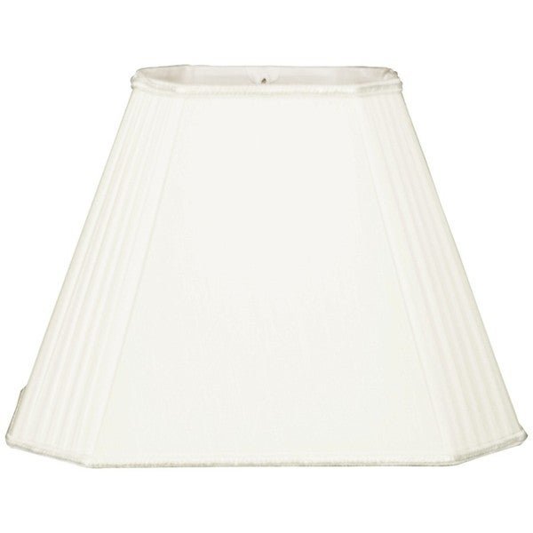 Royal Designs Empire White Staggered Pleats Rectangular Lampshade