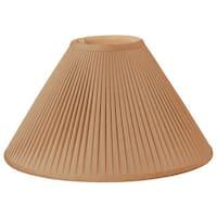 Royal Designs Mushroom Pleated Designer Lamp Shade, Brown, 6 x 18 x 11.5