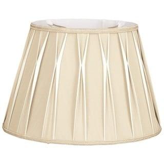 Royal Designs Bowtie Beige Pleated Drum Lampshade