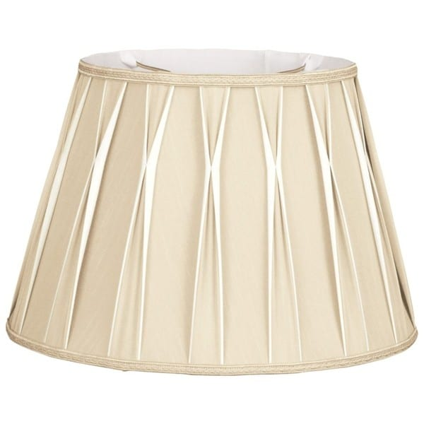 Royal Designs Bowtie Beige Pleated Drum Lampshade