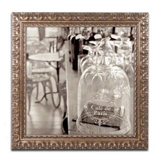 Alan Blaustein 'Lombardy VIII Sepia' Ornate Framed Art