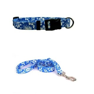Yellow Dog Design Aloha Blue Standard Collar & Lead Set