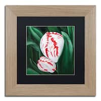 Lily van Bienen 'Mother and Child' Matted Framed Art - Pink/Green