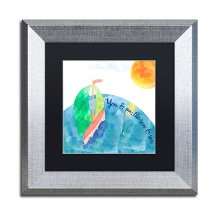 Lisa Powell Braun 'You And Me' Matted Framed Art