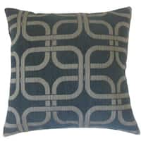 Bertille Geometric 22-inch Down Feather Throw Pillow Nightsky
