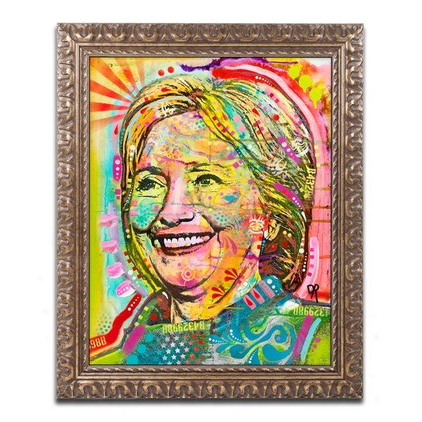 Dean Russo 'Hillary' Ornate Framed Art