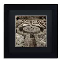 Alan Blaustein 'Tuscan Giardini I' Matted Framed Art - Black