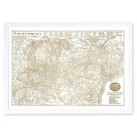 Hatcher and Ethan 'New York Central Lines Gold'Metallic Art