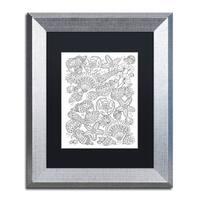 Lisa Powell Braun 'Nautical Shells' Matted Framed Art - Grey