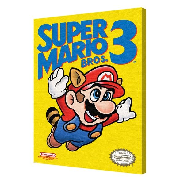 Shop Super Mario Bros 3 Cover Photgraphic Canvas Wall Art by Pyramid ...