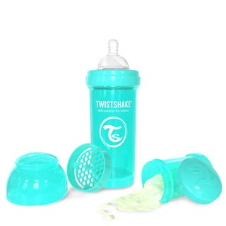 Twistshake Turquoise 8-ounce Anti-Colic Baby Bottle
