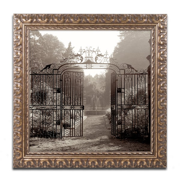Alan Blaustein 'Hampton Gates III' Ornate Framed Art