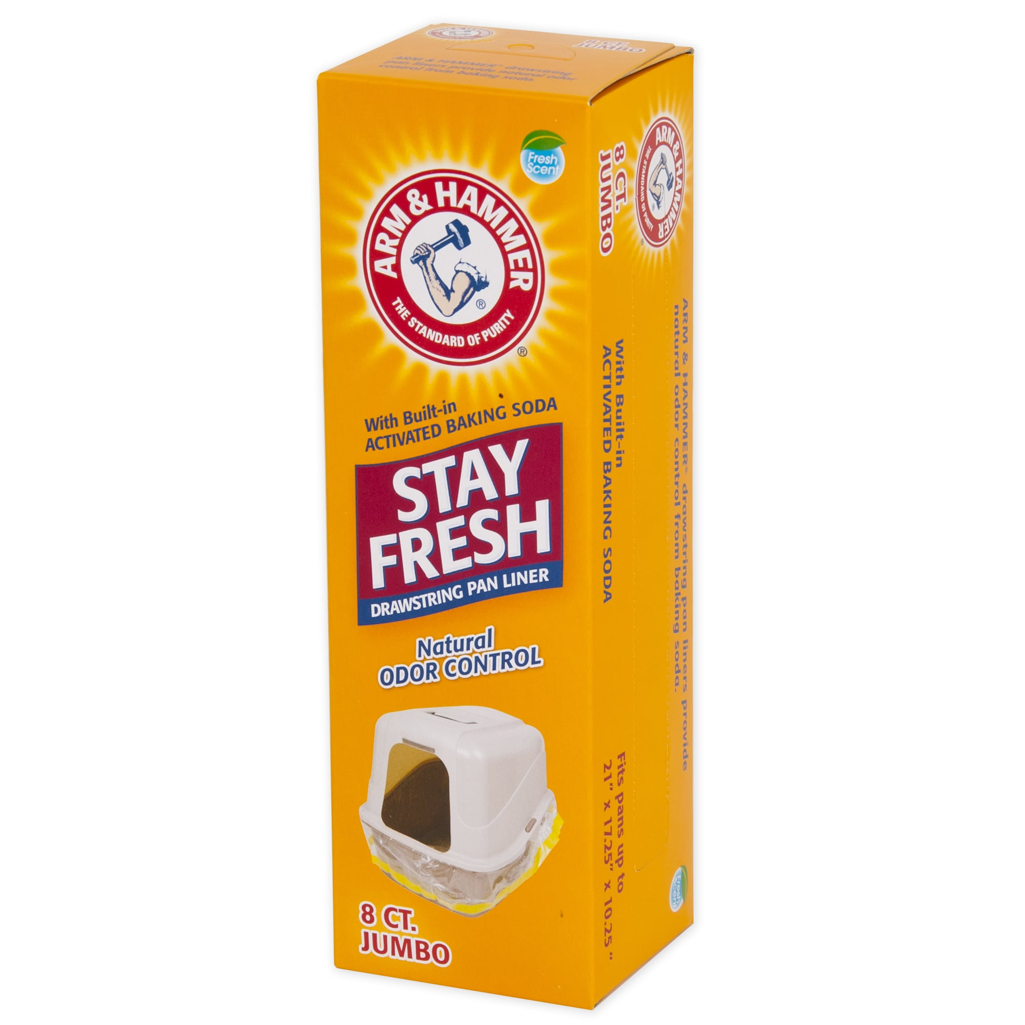 Arm & Hammer Jumbo Stay Fresh Hi Back Drawstring Liners 8...