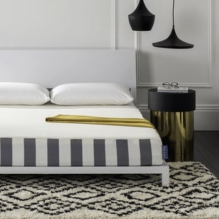 Safavieh Embrace 8-inch Luxury Foam Dream Mattress (King) - White/Grey