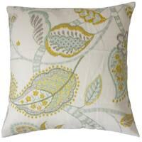 Mazatl Floral 22-inch Down Feather Throw Pillow Peridot