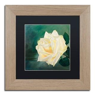 Lily van Bienen 'A Rose is a Rose 1' Matted Framed Art