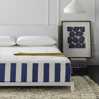 Safavieh Caress 12-inch Luxury Hybrid Dream Twin Mattress - White/Blue