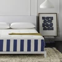 Safavieh Caress 12-inch Full-size Luxury Hybrid Dream Mattress - White/Blue