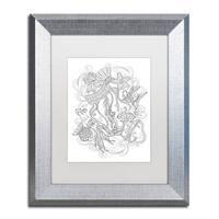 Lisa Powell Braun 'Jellyfish' Matted Framed Art