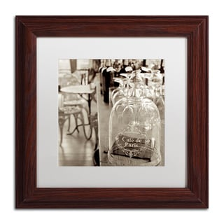 Alan Blaustein 'Lombardy VIII Sepia' Matted Framed Art