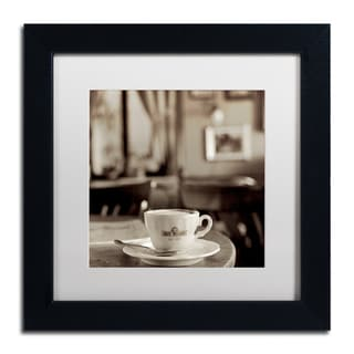 Alan Blaustein 'Tuscany Caffe IV' Matted Framed Art
