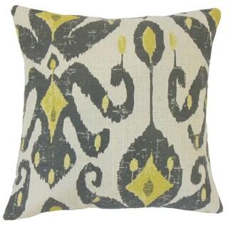 Veradisia Ikat 22-inch Down Feather Throw Pillow Peridot