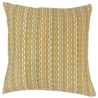 Caroun Stripes 22-inch Down Feather Throw Pillow Dune
