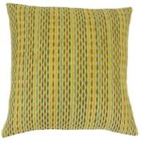 Caroun Stripes 22-inch Down Feather Throw Pillow Kelp