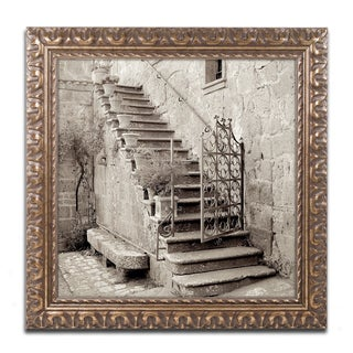 Alan Blaustein 'Umbria Scala I' Ornate Framed Art