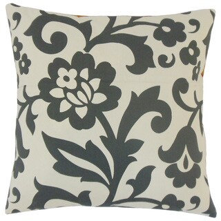 Fisseha Floral 22-inch Down Feather Throw Pillow Dove