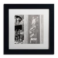 Alan Blaustein 'Il Pane I' Matted Framed Art - Grey