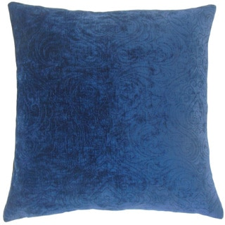 """Hertzel Solid 22"""" x 22"""" Down Feather Throw Pillow Sapphire"""