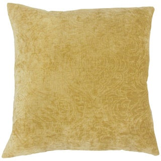 Hertzel Solid 22-inch Down Feather Throw Pillow Yellow