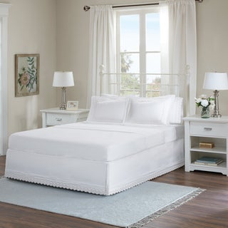 Madison Park Essentials Scalloped Eyelet Embroidered Bedskirt and Shams