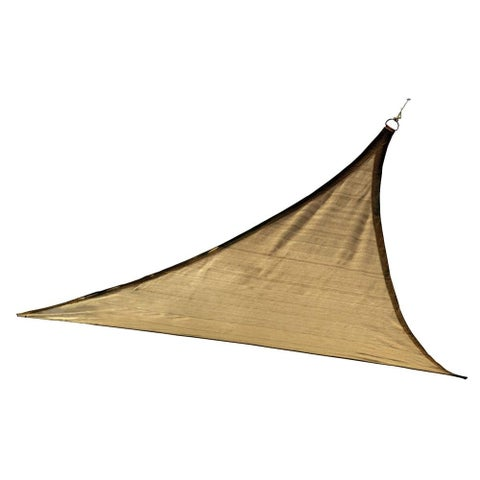 12 ft Triangle Shade Sail Sand 160 gsm