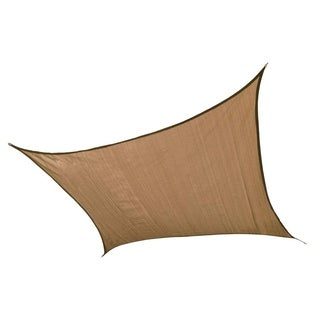 16 ft Square Shade Sail Sand 160 gsm