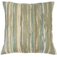 Uchenna Stripes 22-inch Down Feather Throw Pillow Sage