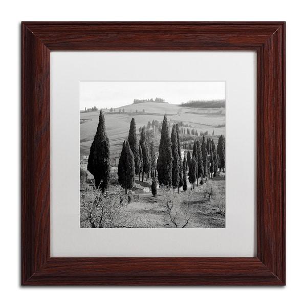 Alan Blaustein 'Tuscany IV' Matted Framed Art
