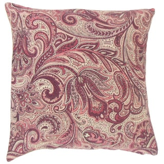 Vilette Paisley 22-inch Down Feather Throw Pillow Bittersweet
