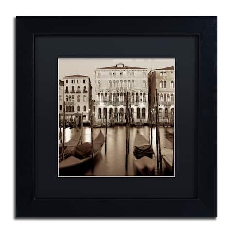 Alan Blaustein 'Venezia I' Matted Framed Art