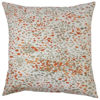 Yash Graphic 22-inch Down Feather Throw Pillow Persimmon