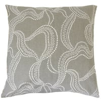 Youvani Graphic 22-inch Down Feather Throw Pillow Smoke