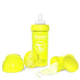 Twistshake Yellow 8-ounce Anti-Colic Baby Bottle