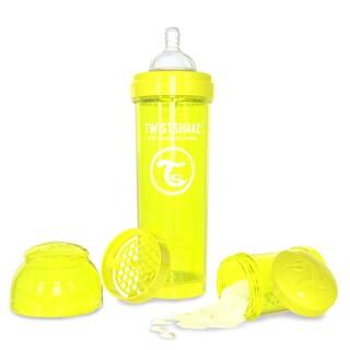 Twistshake Yellow 11-ounce Anti-Colic Baby Bottle