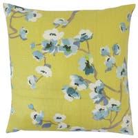 Dashania Floral 22-inch Down Feather Throw Pillow Peridot