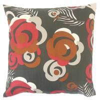 Riyaz Floral 22-inch Down Feather Throw Pillow Currant