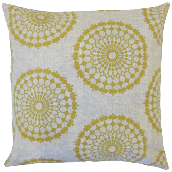Elyes Geometric 22 Inch Down Feather Throw Pillow Citrine Overstock 15264971