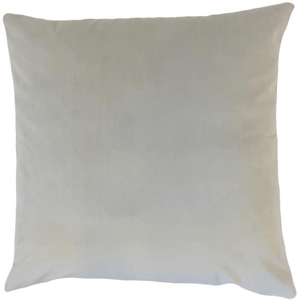 Nizar Solid 22-inch Down Feather Throw Pillow Smoke