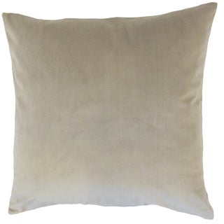 Nizar Solid 22-inch Down Feather Throw Pillow Tan