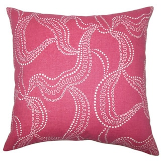 Youvani Graphic 22-inch Down Feather Throw Pillow Pink